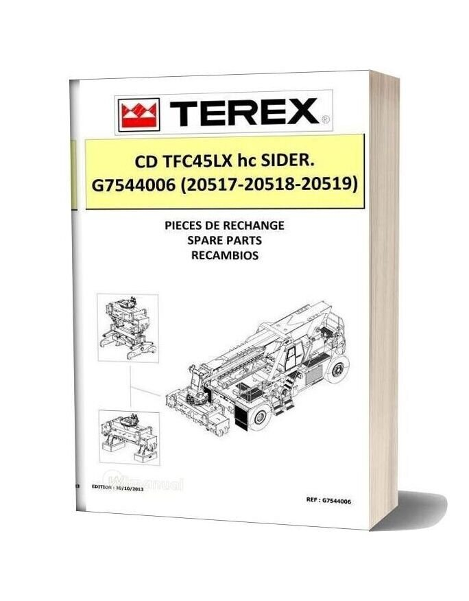 Terex Tfc45lx Hc Sider Spare Parts Manual