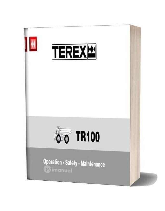 Terex Tr100 Operation Safety Maintenance