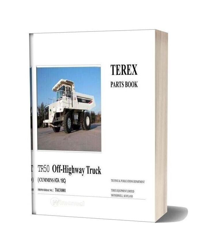 Terex Tr50 Off Highway Truck Parts Book