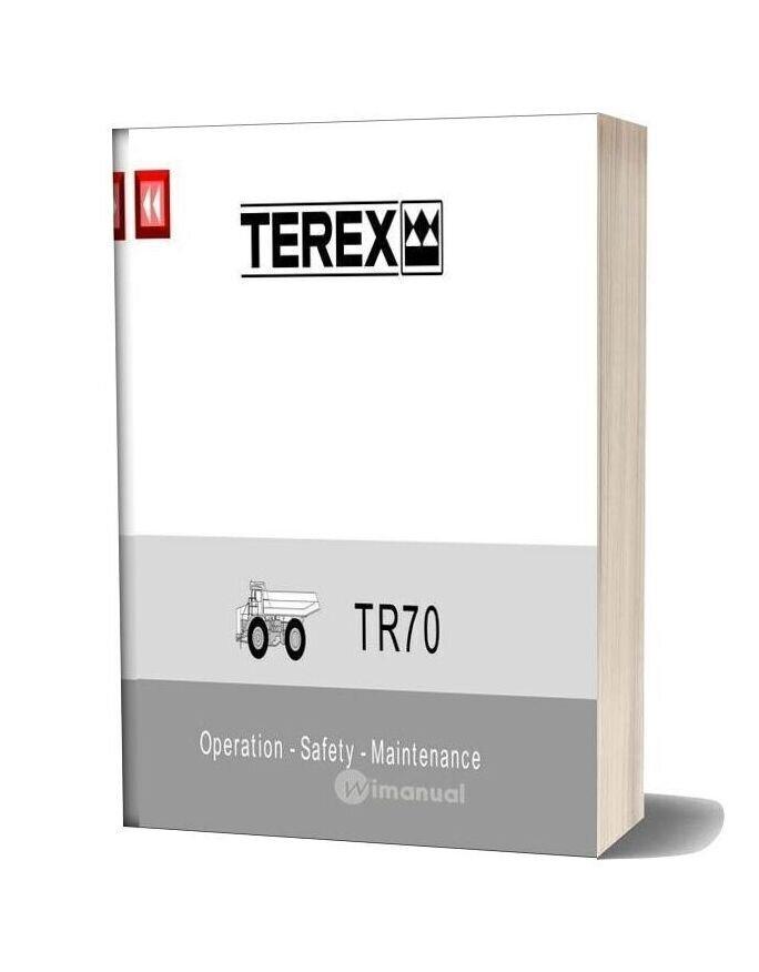 Terex Tr70 Operation Safety Maintenance