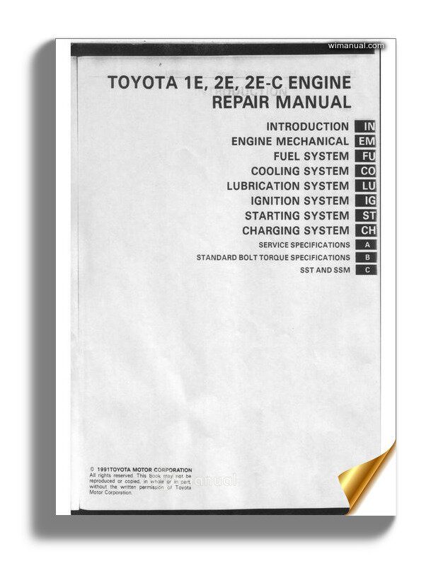 Toyota 1e 2e Repair Manual
