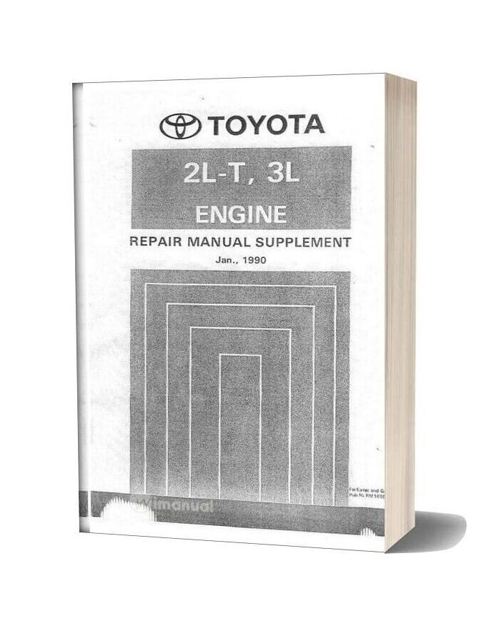 Toyota 2l T 3l Engine Repair Manual