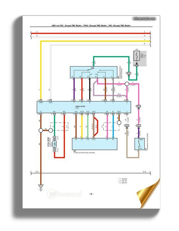 34 Toyota Electrical Wiring Diagram