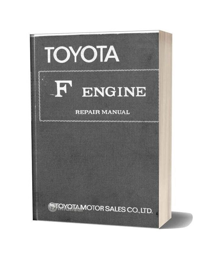 Toyota F Engine Repair Manual
