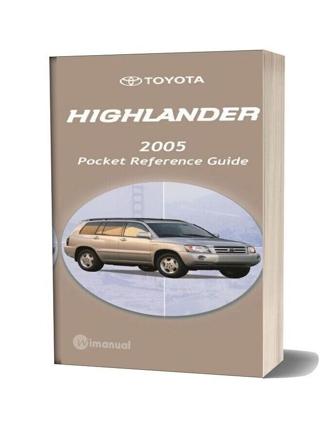 Toyota Highlander 2005 Pocket Reference Guide