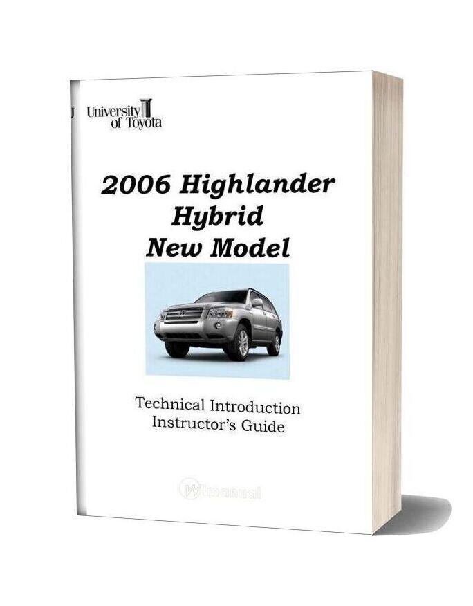 Toyota Highlander Hybrid 2006 Technical Introduction