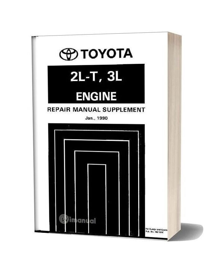Toyota Hilux Land Cruiser 4runner Engine Service Repair Manual