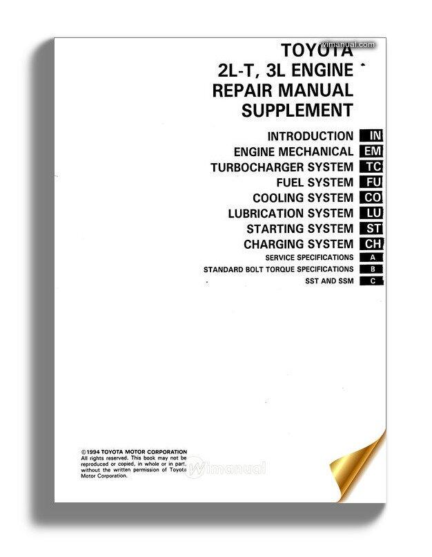 Toyota Hilux Land Cruiser 4runner Engine Service Repair Manual