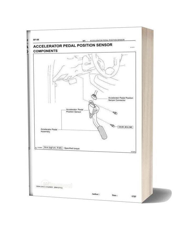 Toyota Land Cruiser 1998 2007 Sfi Repair Manual
