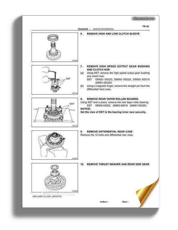 Toyota Land Cruiser 1998 2007 Transfer Repair Manual