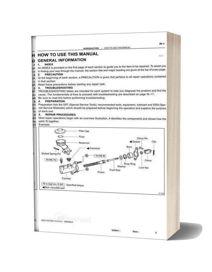 Toyota Tundra 2003 Repair Manual