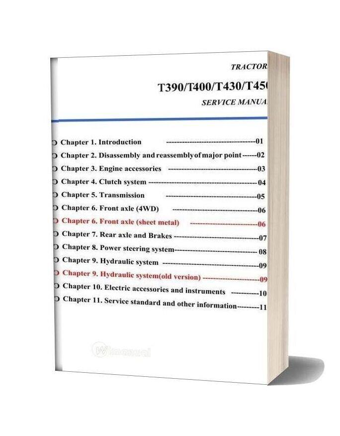 Tym T450 Service Manual