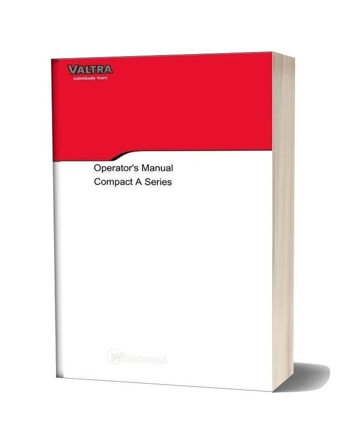 Valtra Tractor A53 A73 Operators Manual En