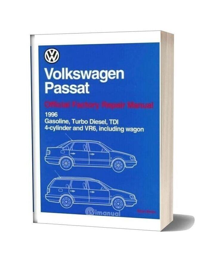 Volkswagen Passat Official Factory Repair Manual Wiring Diagrams 1996