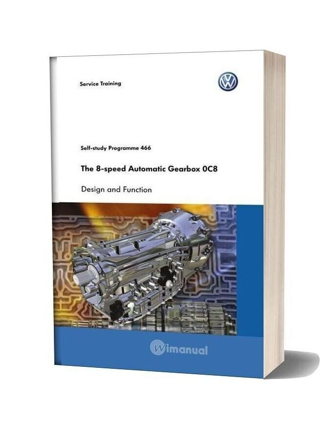 Volkswagen Service Training The 8 Speed Automatic Gearbox 0c8