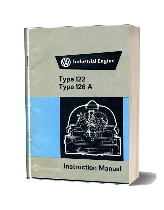 Volkswagen Type 122 126a Industrial Engine Instruction Manual