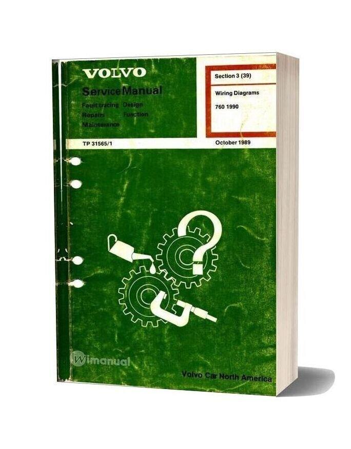 Volvo 1990 760 Wiring Diagrams | Volvo 760 Wiring Diagram |  | WiManual