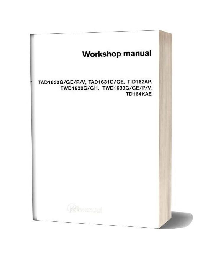 Volvo Engine 16l Workshop Manual