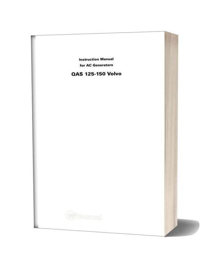 Volvo Instruction Manual For Ac Generators Qas 125 150