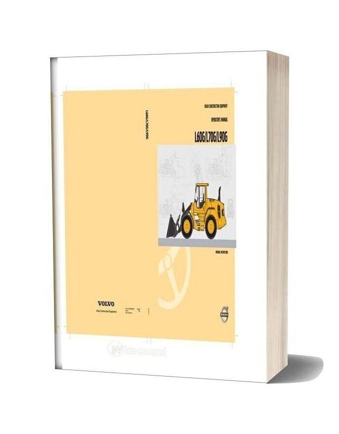 Volvo L60g L70g L90g Operator Manual