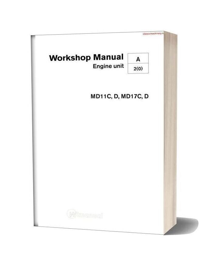 Volvo Penta Md11cd Md17cd Workshop Manual
