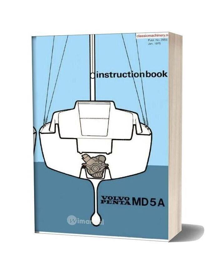 Volvo Penta Md5a Instruction Book