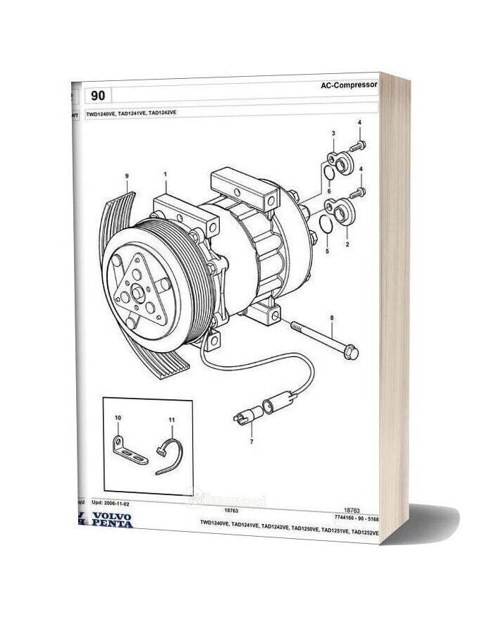 Volvo Penta Tad1250ve Spare Parts Manual