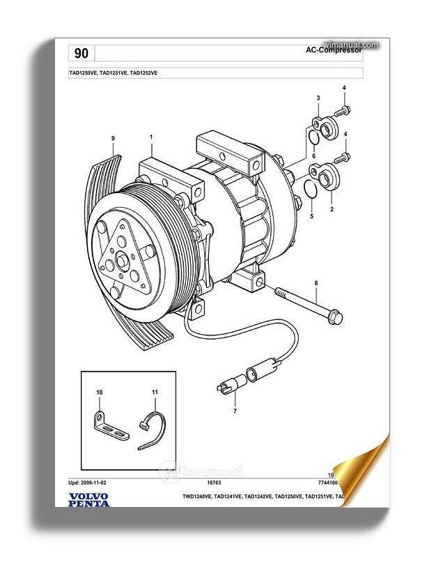 Volvo Penta Tad1250ve Spare Parts Manual on volvo md11c, volvo marine parts, volvo penta,