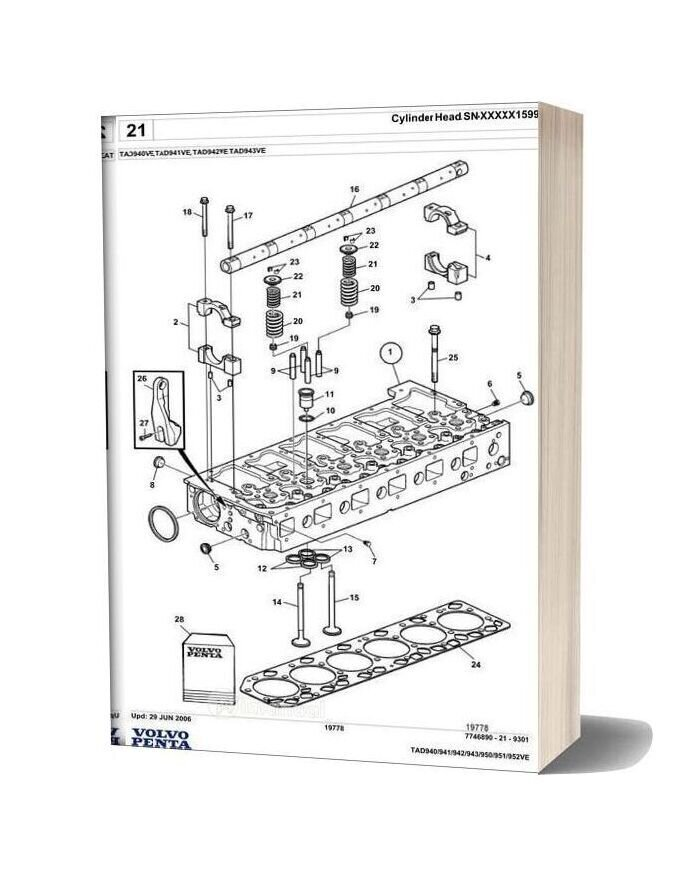 Volvo Penta Tad952ve Spare Parts Manual
