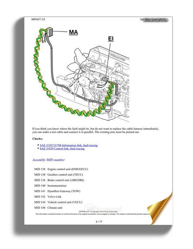 [DIAGRAM_38IS]  Volvo Truck D13 A Wiring Diagram Link J1939 | Volvo Vecu Wiring Diagram |  | WiManual