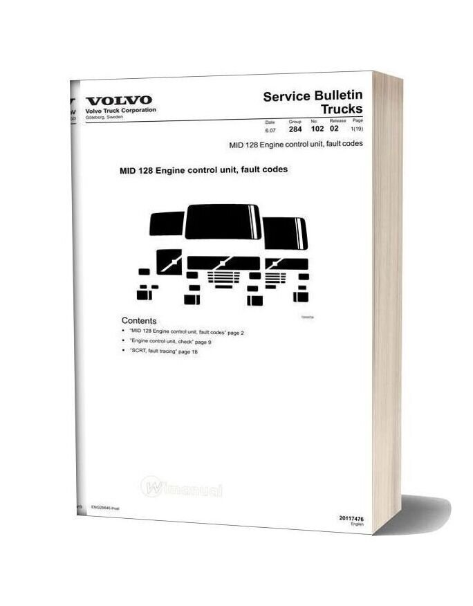 Volvo Trucks Mid 128 Engine Control Unit Fault Codes 1