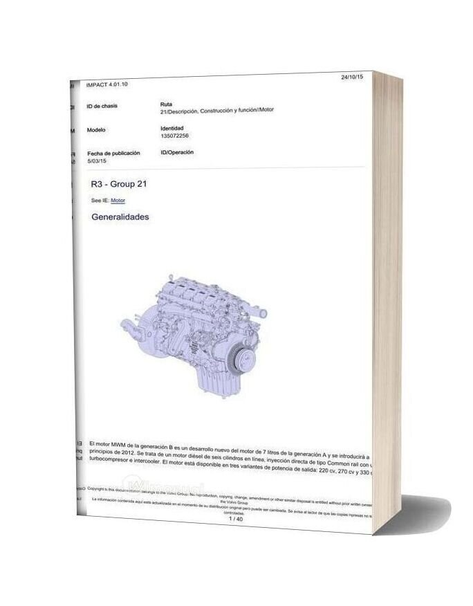Volvo Vm 220 270 Engine Description And Function