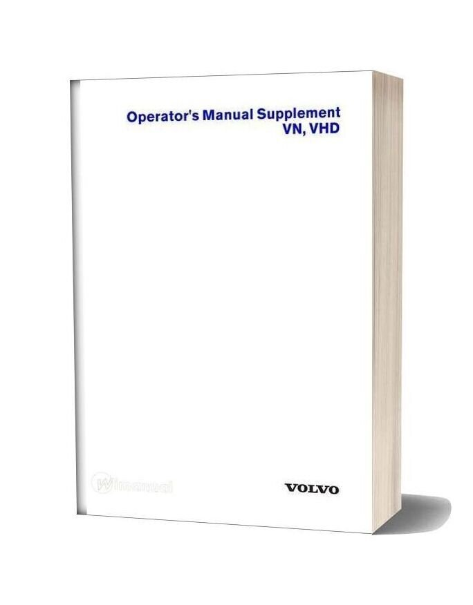 Volvo Vn Vhd Operators Manual Supplement