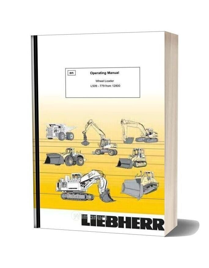 Wheel Loader Liebherr L509 Operation Manual