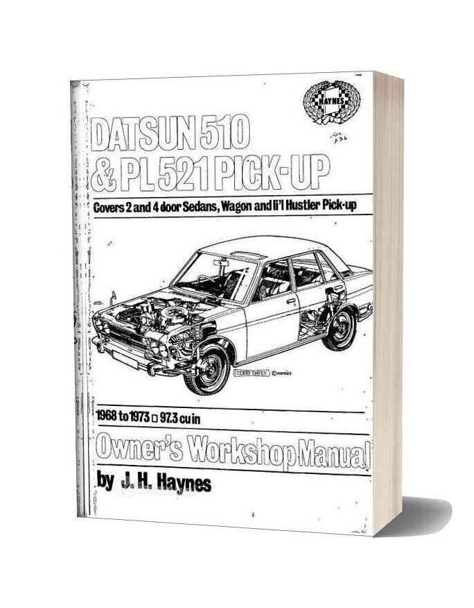 Workshop Manual Datsun 510 Pl521 Pick Up 1968 73