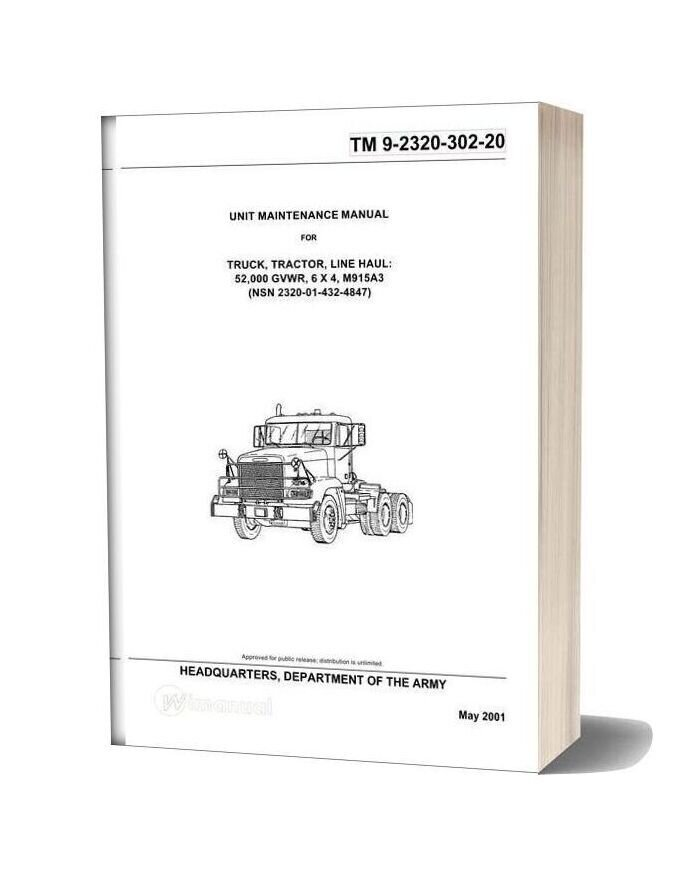 Workshop Manual Freightliner M915a3