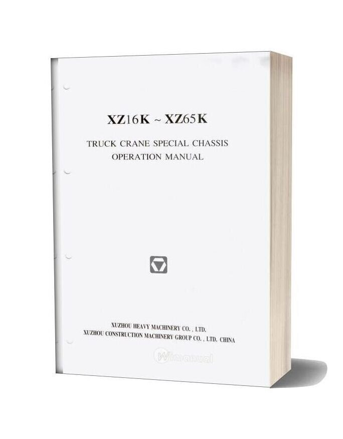 Xcmg Qy50k Truck Crane Special Chassis Operation Manual