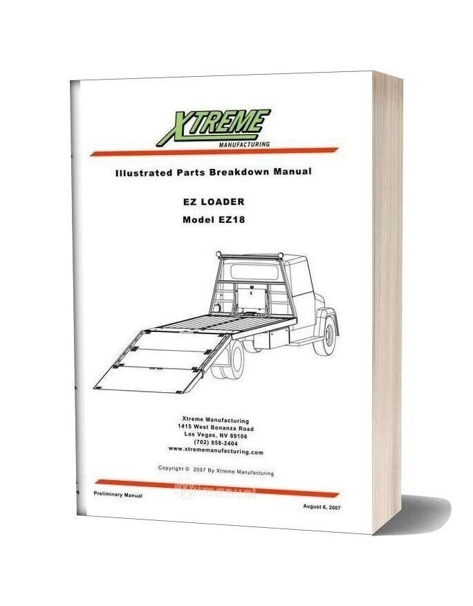 Xtreme Ez Loader Ez18 Parts Manual