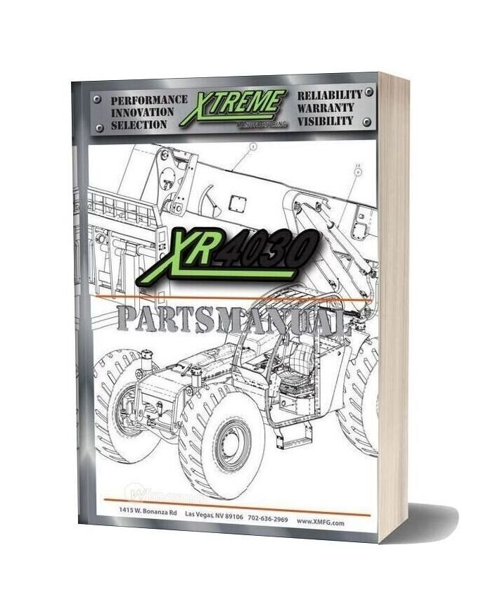 Xtreme Forward Reach Forklift Xr4030 Parts Manual