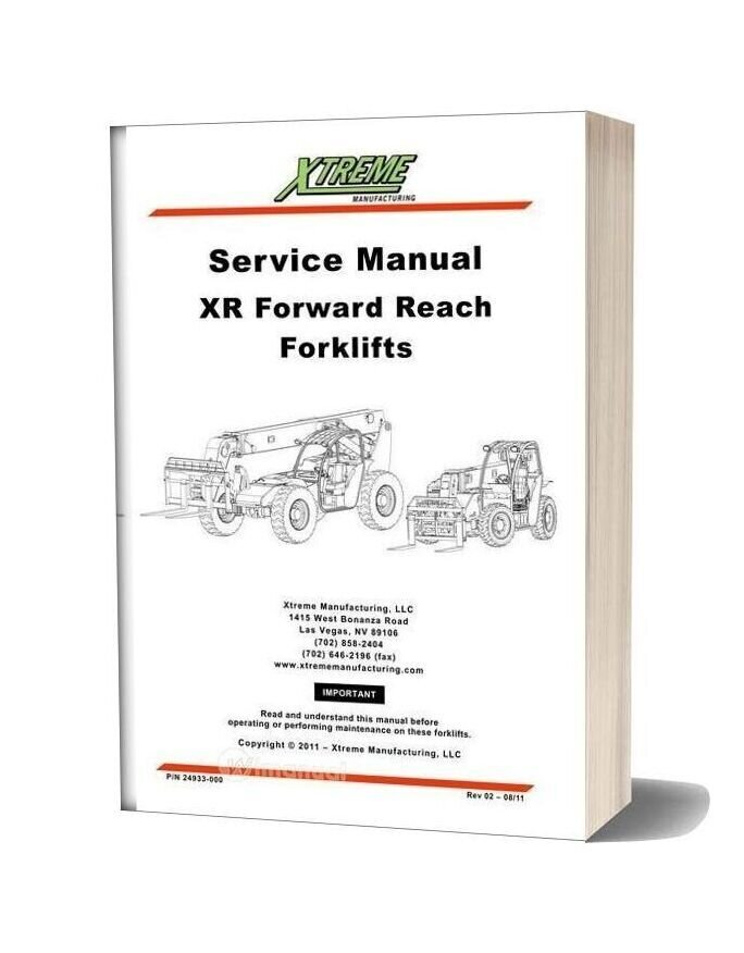 Xtreme Xr Forward Reach Forklift Service Manual