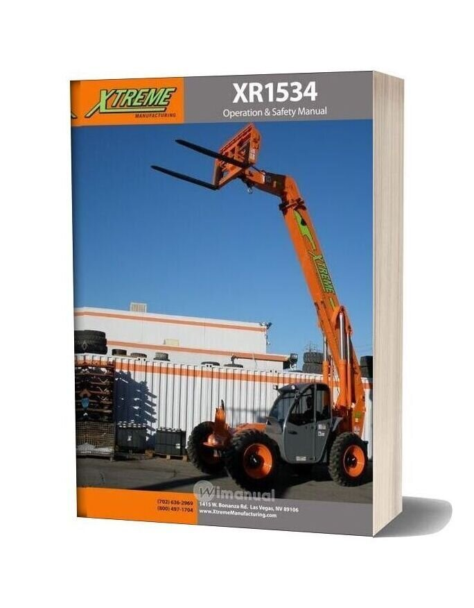 Xtreme Xr1534 Operation Safety Manual