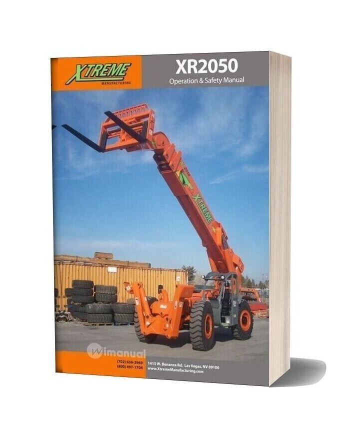 Xtreme Xr2050 Operation Safety Manual
