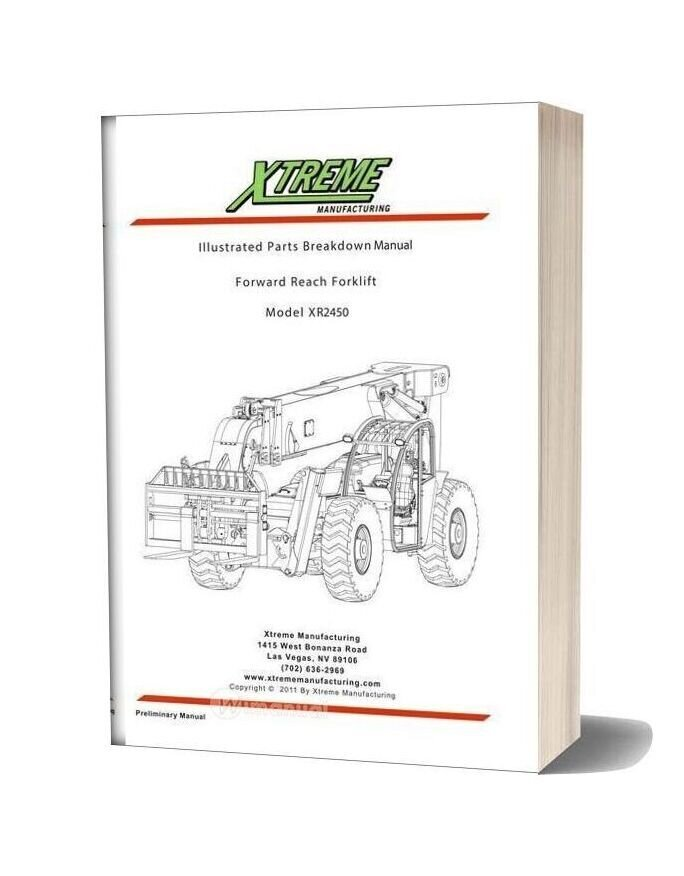 Xtreme Xr2450 Illustrated Parts Breakdown Manual