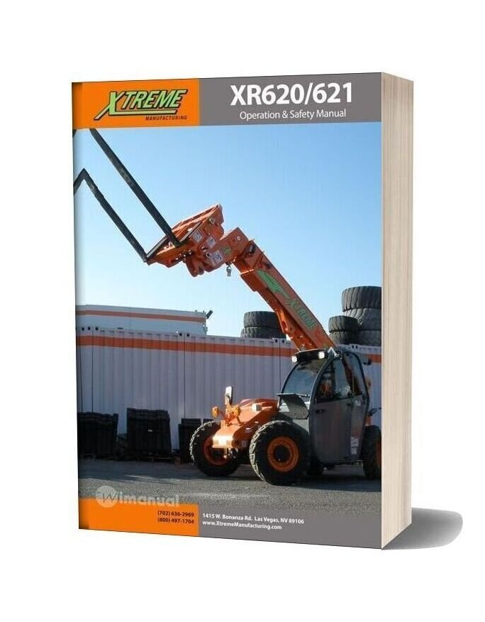 Xtreme Xr620 621 Operation Safety Manual