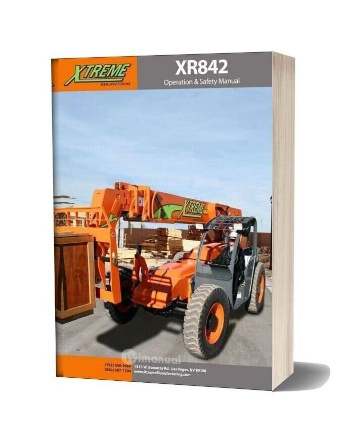 Xtreme Xr842 Operation Safety Manual