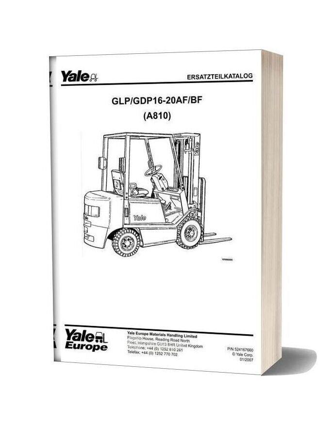 Yale A810 Part Catalogue