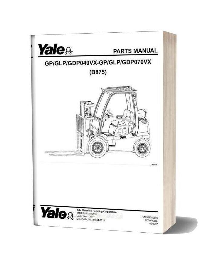 Yale B875 Parts Manual