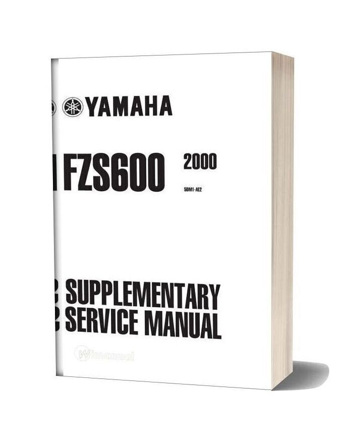 Yamaha Fazer Fzs600 2000 Supplementary Service Manual