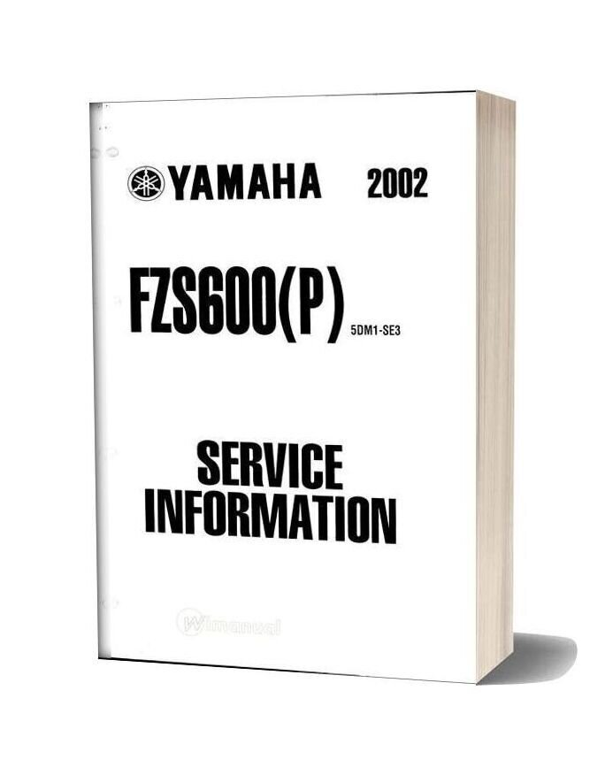 Yamaha Fazer Fzs600(P) 2002 Supplementary Service Manual
