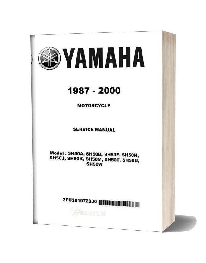 Yamaha Sh50 Service Manual